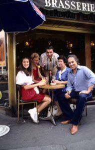 Céline Dion, Dodo Morali, Guy Morali, Thérèse Dion, René Angélil (Source: Jean-Marie Mazeau / SIPA)