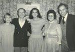 Anne-Renée Kirouak, Eddy Marnay, Céline Dion, Thérèse Dion, René Angélil (Source: Gilles Lafrance / Le Journal de Montréal)