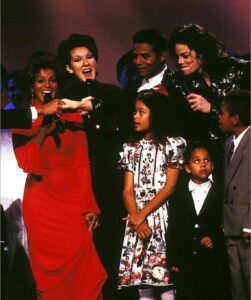 Janet Jackson, Céline Dion, Germaine Jackson, Michael Jackson