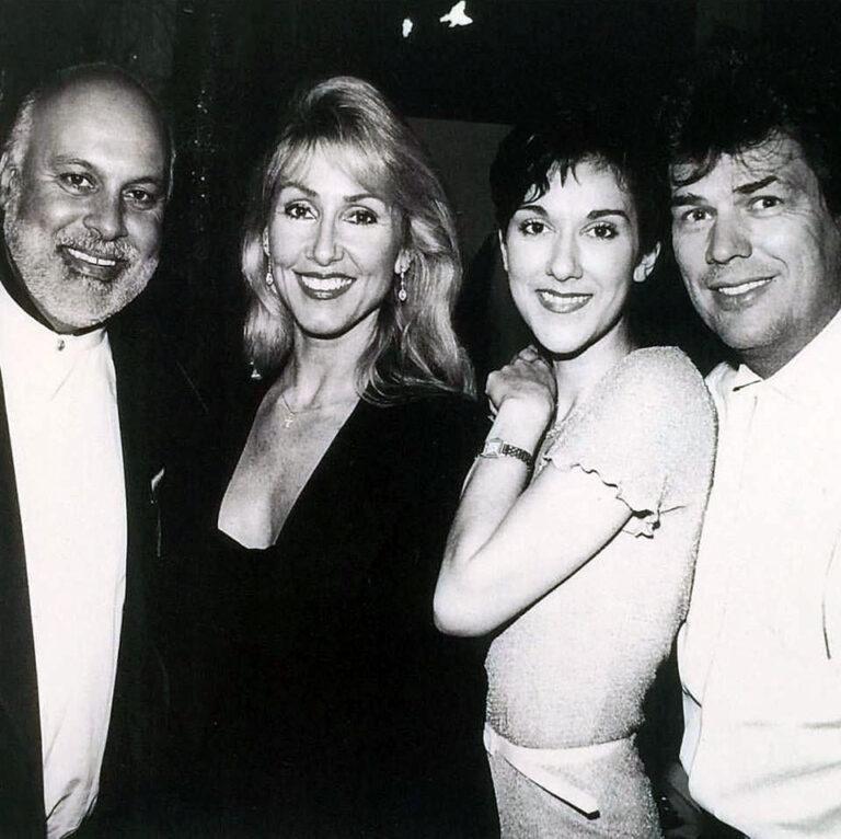 René Angélil, Linda Thompson, Céline Dion, David Foster