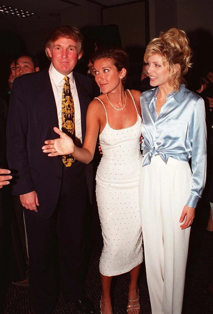 Donald Trump, Céline Dion, Maria Maples (Photo: Ron Wolfson)