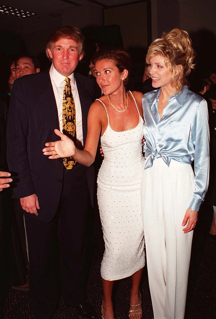 Donald Trump, Céline Dion, Maria Maples (Photo: Ron Wolfson)