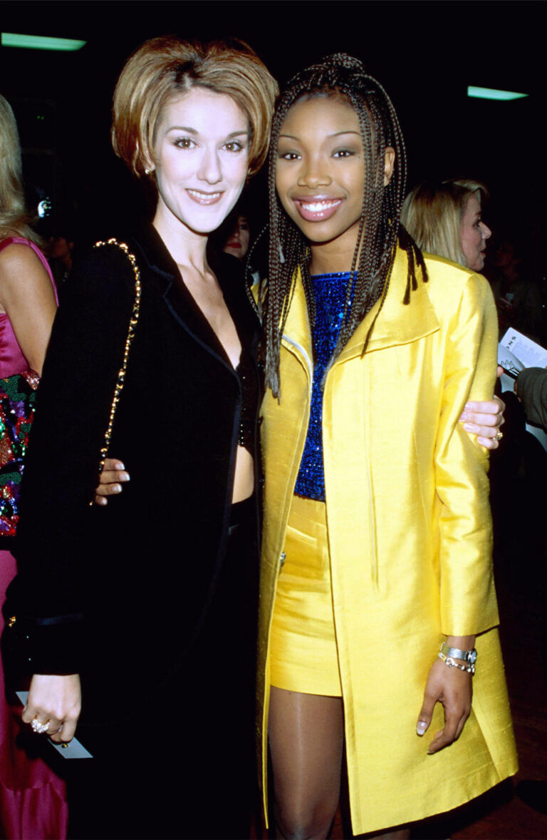 Celine Dion and Brandy Norwood (Photo by Kevin Mazur Archive 1/WireImage)