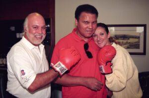 René Angélil, Muhammad Ali, Céline Dion (Source: Laurent Cayla)