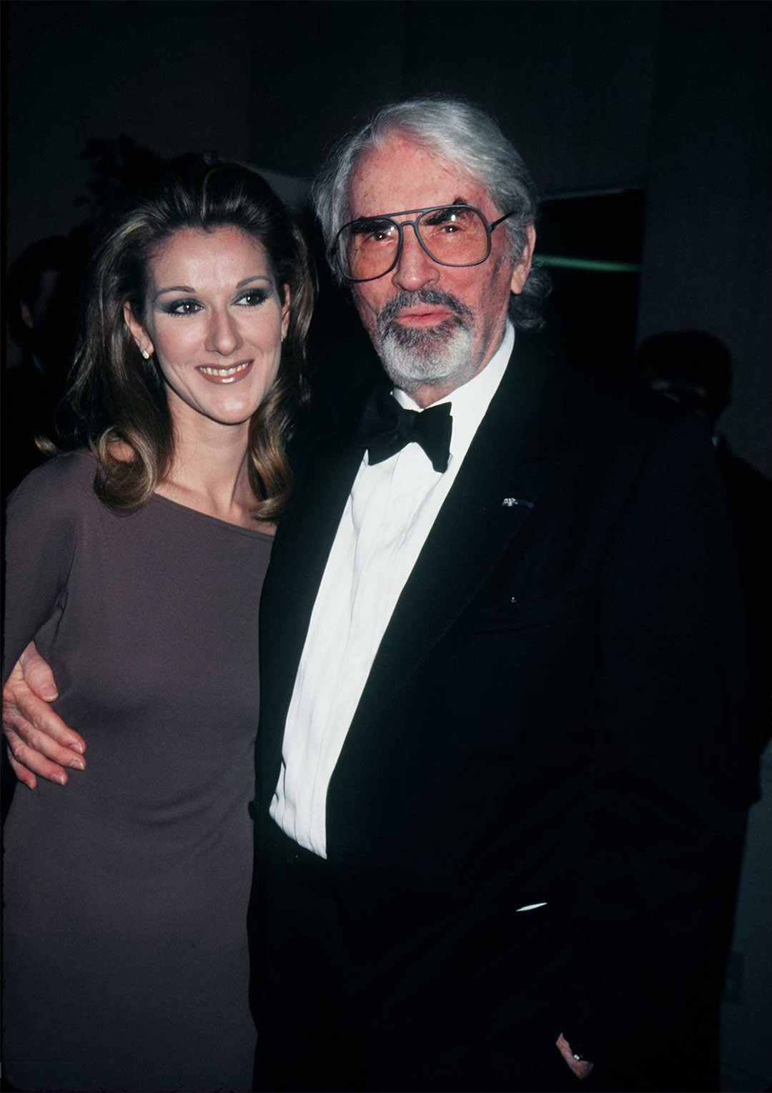 Celine Dion and Gregory Peck (Photo by Albert Ortega/Getty Images)