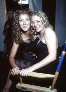 Céline Dion, LeAnn Rimes (Photo: Ron Wolfson, USA Online Inc.)