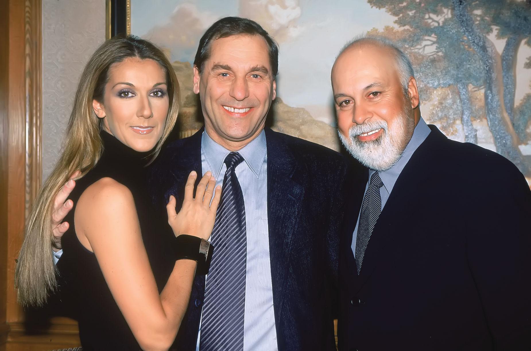 Céline Dion, Michel Jasmin, René Angélil (Source: TVA Publications, Daniel Auclair)