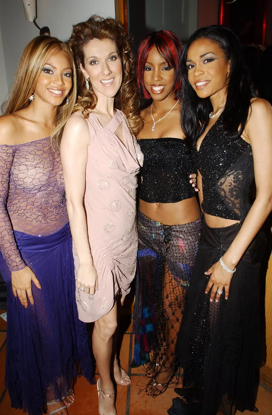 Beyoncé Knowles, Céline Dion, Kelly Rowland, Michelle Williams (Photo: Getty Images)