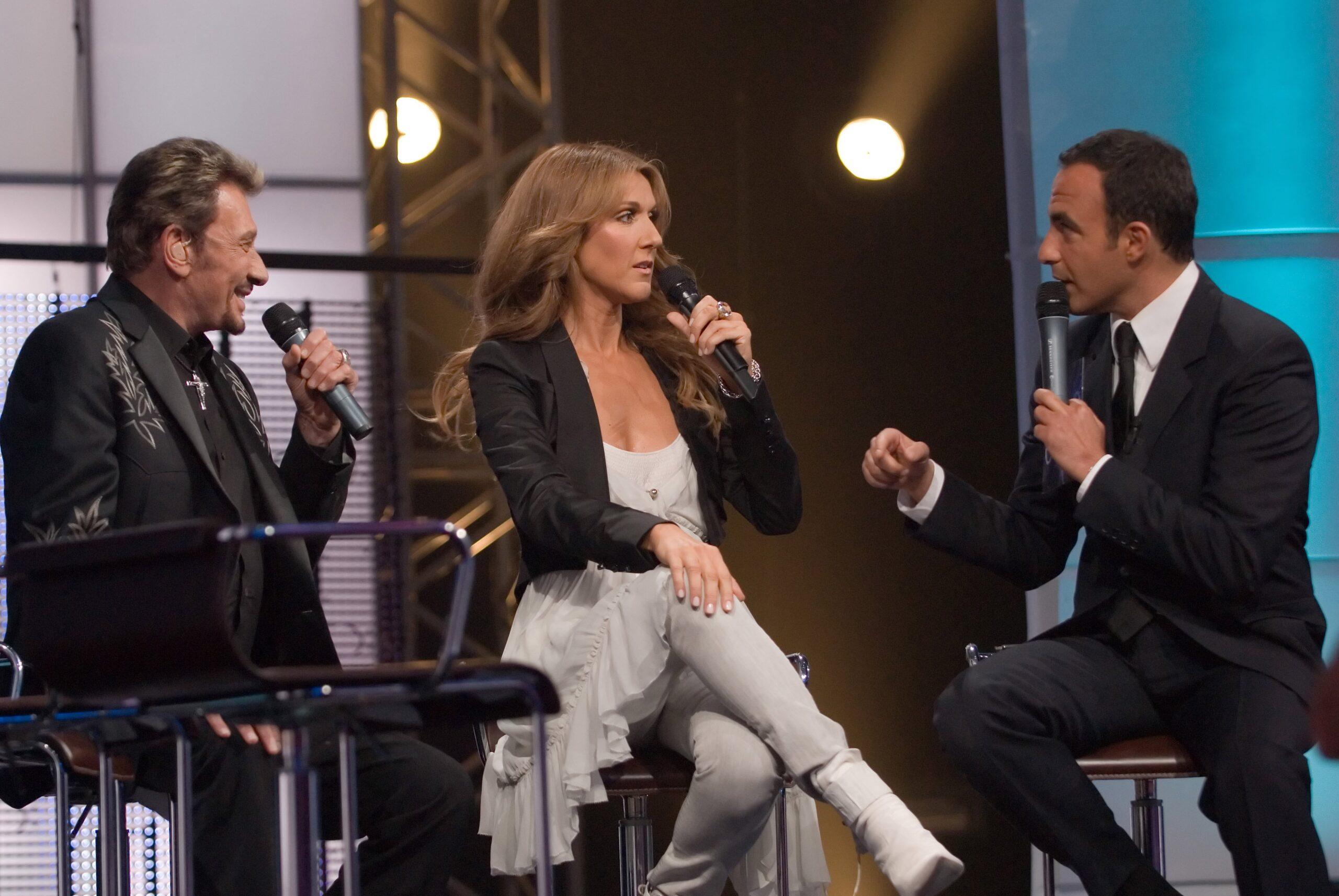 Johnny Halliday, Céline Dion, Nikos Aliagas