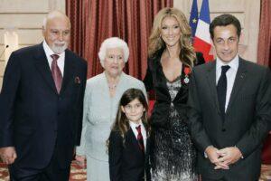 René Angélil, Thérèse Dion, René-Charles, Céline Dion, Nicolas Sarkozy