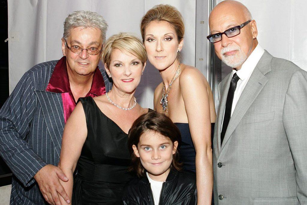 Alain Sylvestre, Linda Dion, René-Charles Angélil, Céline Dion, René Angélil (Source: Le Journal de Montréal)