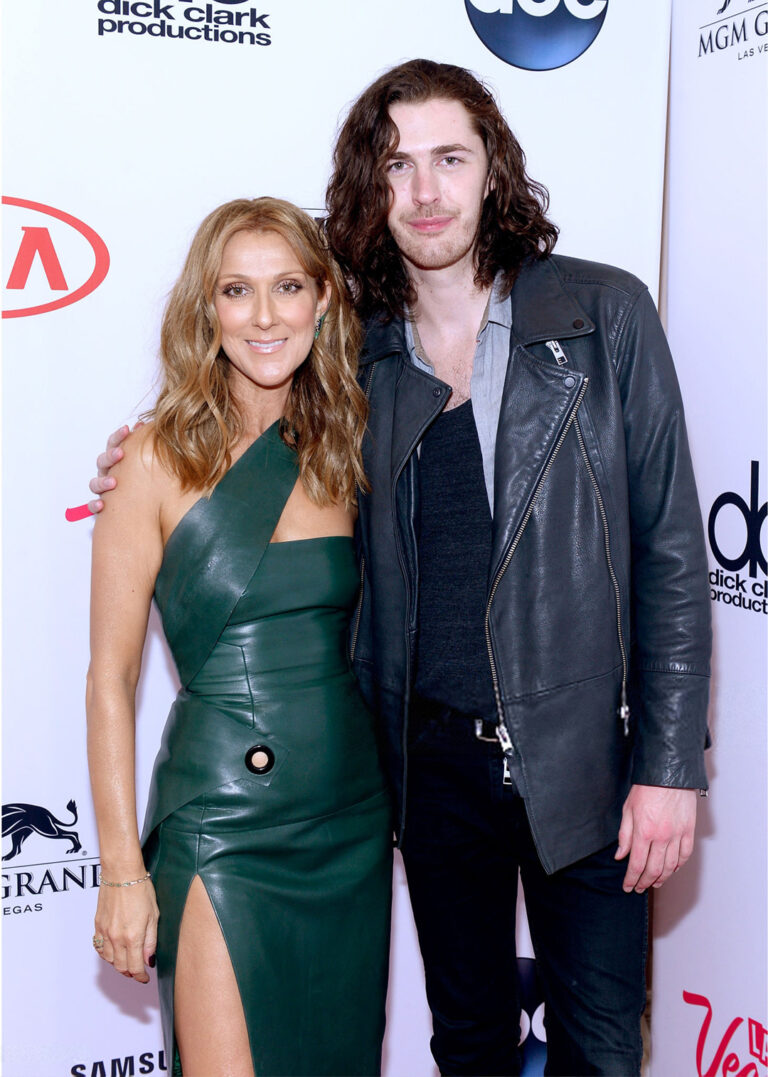 Céline Dion, Hozier (Photo by Bryan Steffy/BMA2015/Getty Images for Music Choice)