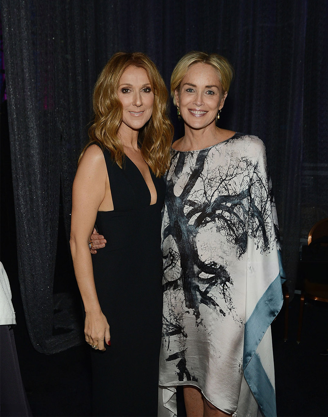 Céline Dion, Sharon Stone (Photo by Denise Truscello/Getty Images for Keep Memory Alive)