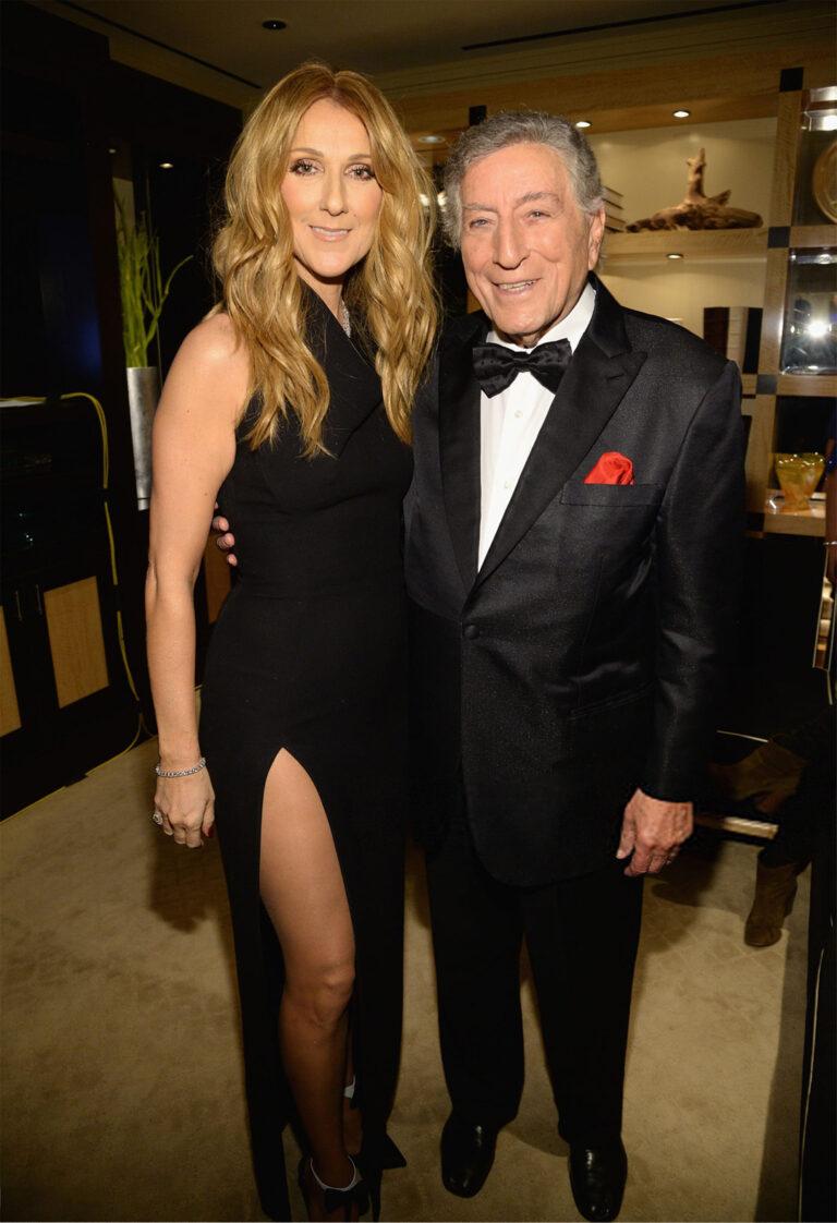 Céline Dion, Tony Bennett (Photo by Kevin Mazur/WireImage)(Photo by Kevin Mazur/WireImage)