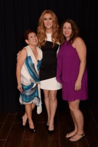Ramona Almirez, Céline Dion, Christine Denise (Photo: Cashman)