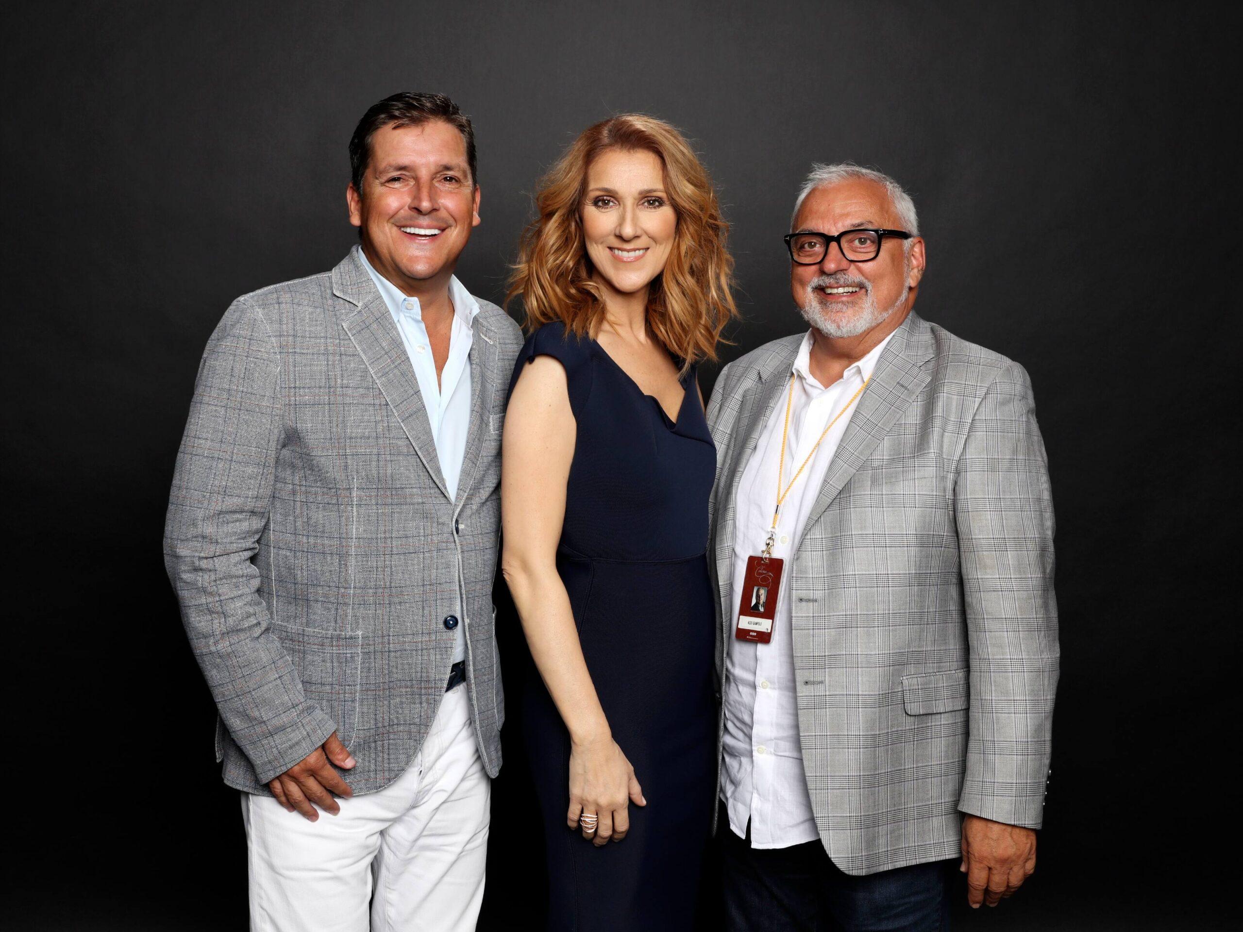 Jean Pilote, président et directeur général du Capitole, Céline Dion, Aldo Giampaolo (Photo Olivier Samson Arcand)