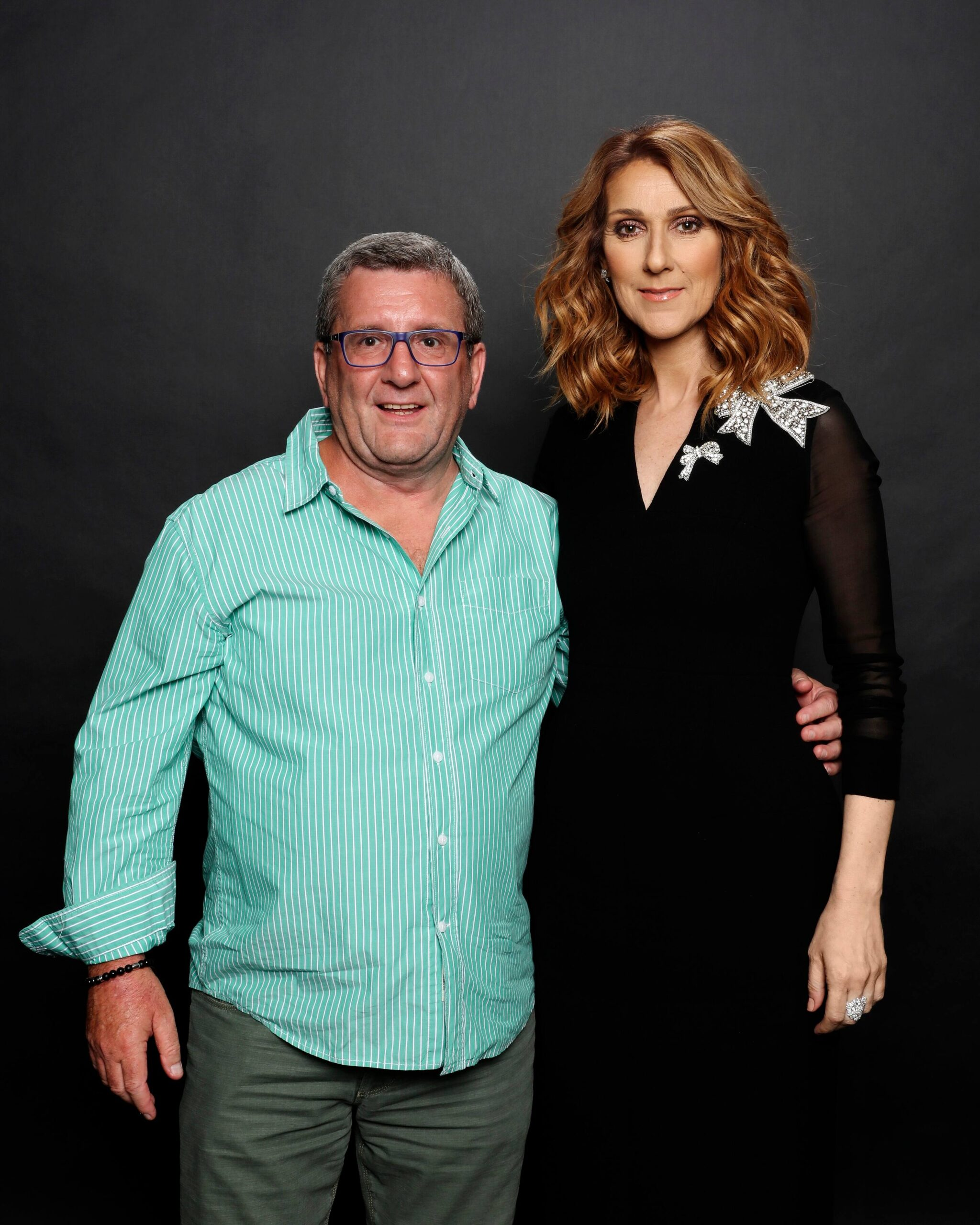Régis Labeaume, Céline Dion (Photo Olivier Samson Arcand)