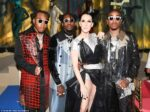 Celine Dion, Migos rappers Offset, Takeoff and Quavo