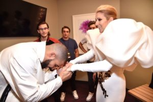 Drake, René-Charles Angélil, Céline Dion (Photo: Kevin Mazur/BBMA2017/Getty Images for dcp)