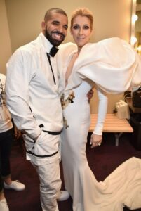 Drake, Céline Dion (Photo: Kevin Mazur/BBMA2017/Getty Images for dcp)