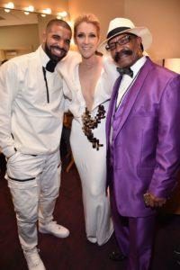 Drake, Céline Dion, Dennis Graham (Photo: Kevin Mazur/BBMA2017/Getty Images for dcp)