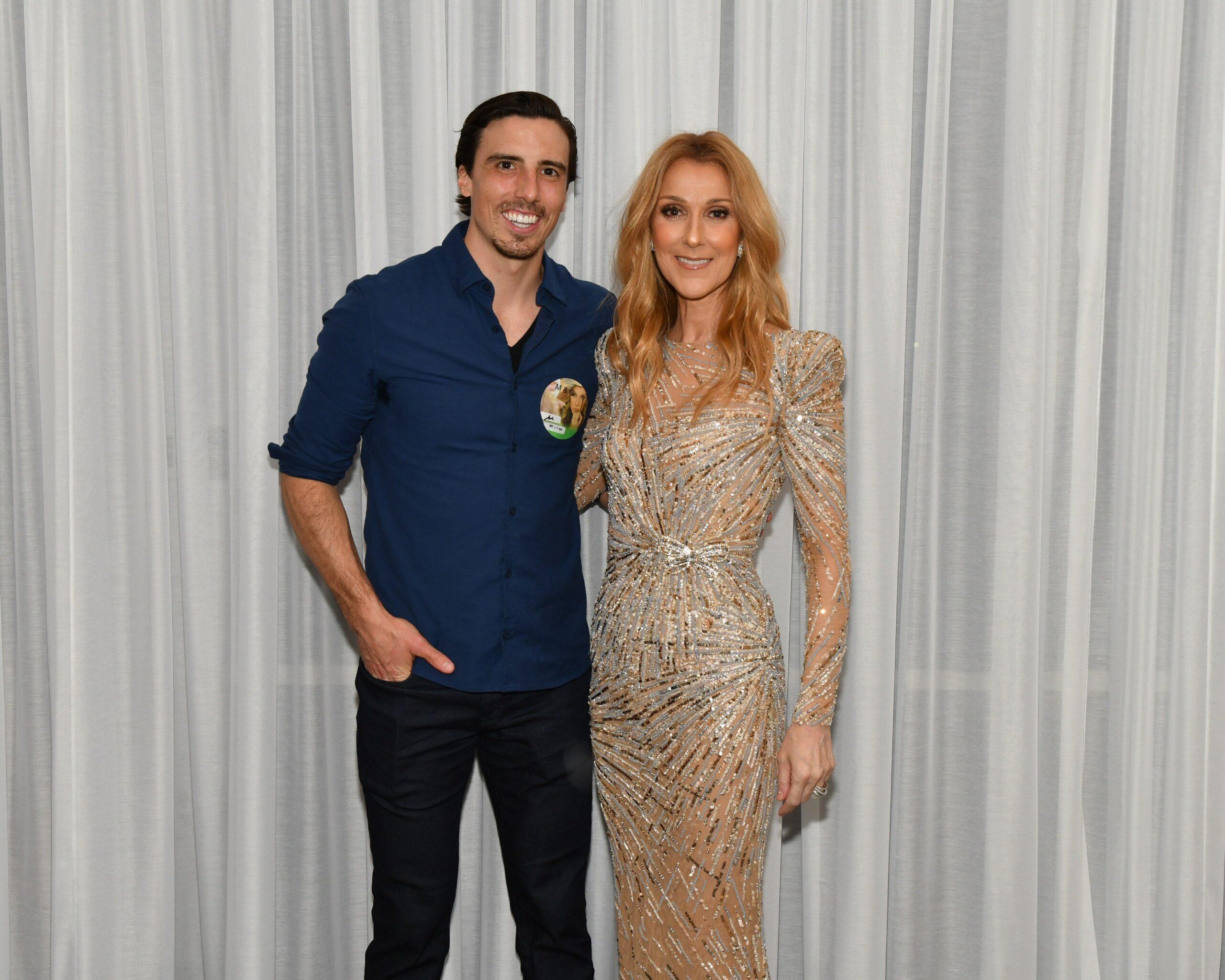 Marc-André Fleury, Céline Dion (Photo: Cashman)