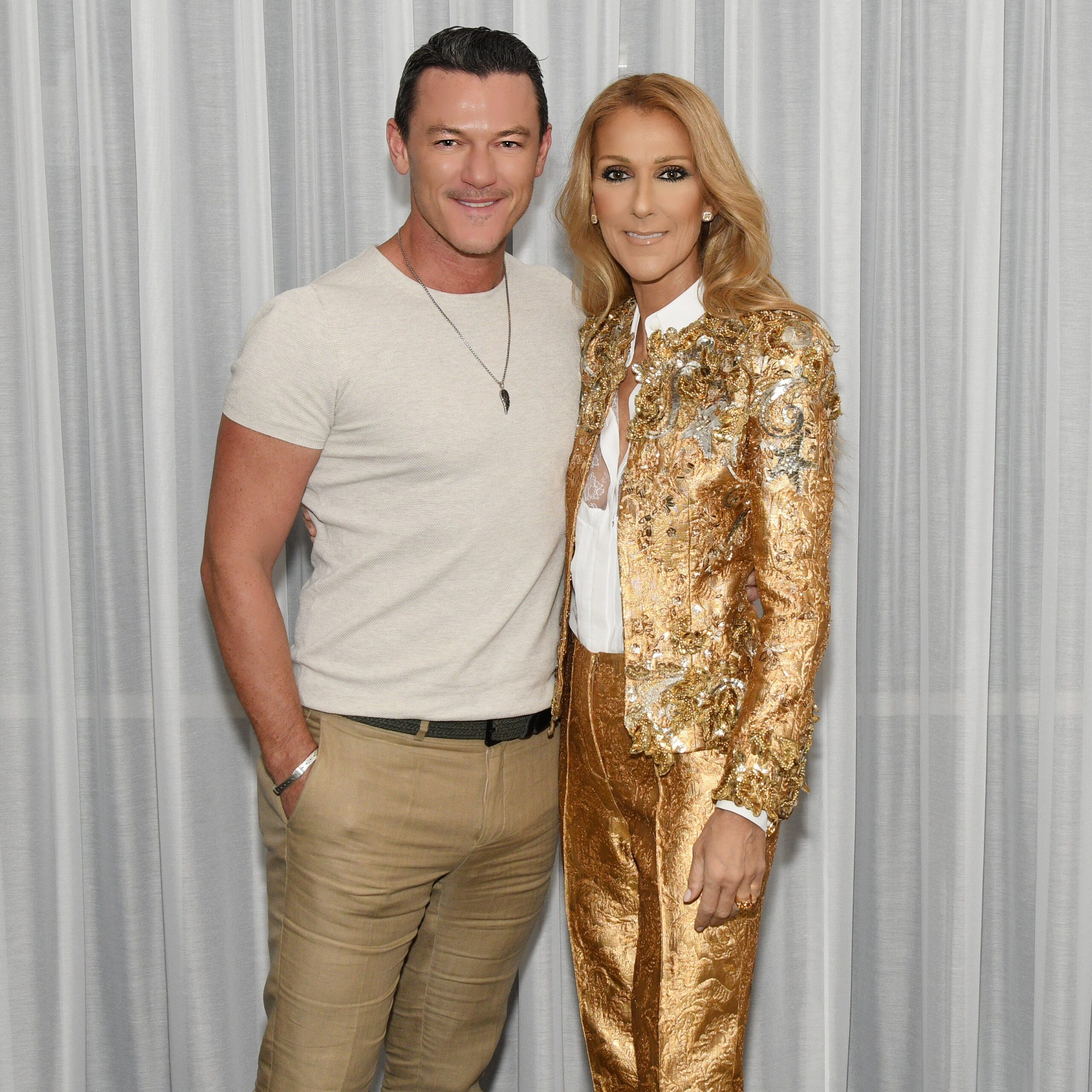Luke Evans, Céline Dion (Photo: Cashman)