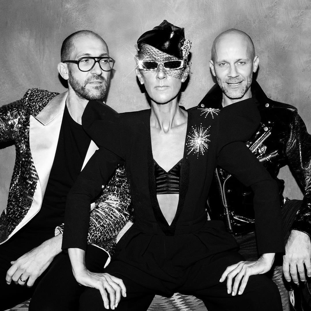 Emmanuel d'Orazio, Céline Dion, Marc Zaffuto (Photographed by Maxwell Aurelien James)