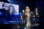 Eddy Angélil, Céline Dion, Nelson Angélil, René-Charles Angélil (Denise Truscello/Getty Images for AEG)