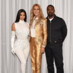 Kim Kardashian, Céline Dion, Kanye West (Photo: Cashman)