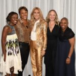 Deborah Roberts, Robin Roberts, Céline Dion, Amber and Agenia (Photo: Cashman)