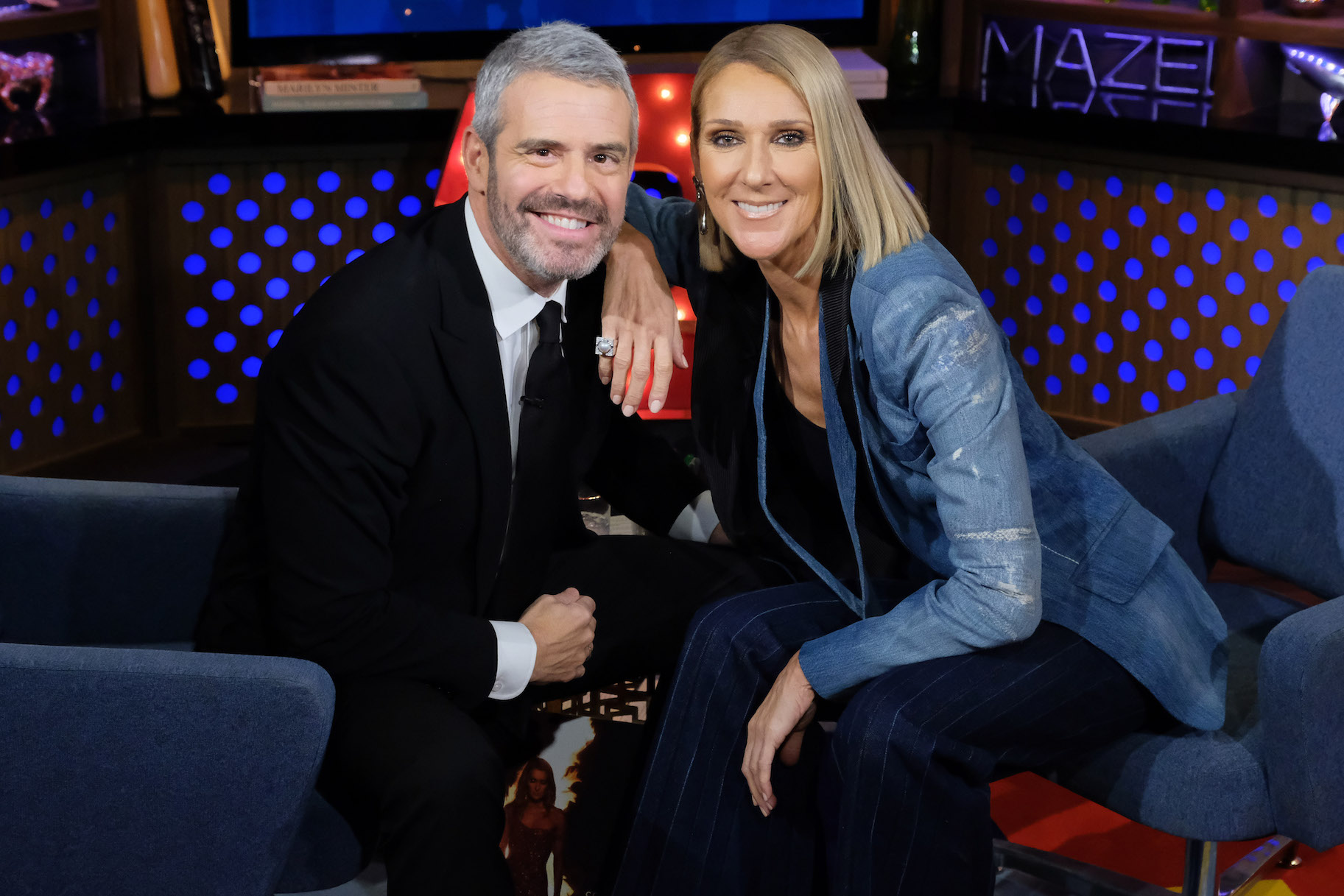 Andy Cohen, Céline Dion (Photo by: Charles Sykes/Bravo)