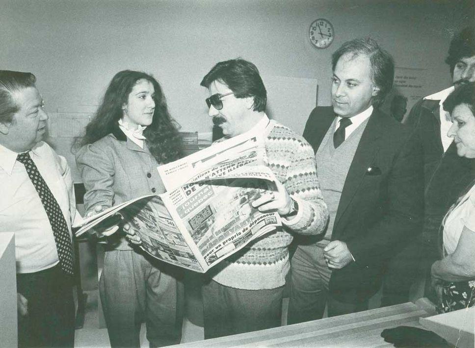Céline Dion, René Angélil, Thérèse Dion (Source: Le Journal de Québec / photo d'archives)