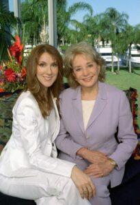 Barbara Walters, Céline Dion (Jan. 24, 2002 - Source: STEVE FENN/ABC, NEWS)
