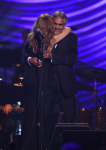 Céline Dion,    Andrea Bocelli (June 12, 2015 - Source: Ethan Miller/Getty Images North America)