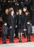 Céline Dion,    Nelson Angelil,    Eddy Angelil,    René-Charles Angelil (Jan. 21, 2016 - Source: Tom Szczerbowski/Getty Images North America)