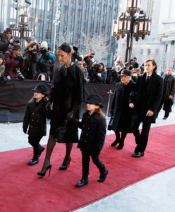 Céline Dion,    Nelson Angelil,    Eddy Angelil,    Therese Dion,    René-Charles Angelil (Jan. 21, 2016 - Source: Kate Hutchinson/Getty Images North America)