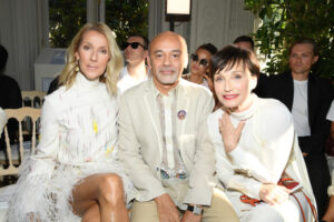 Céline Dion,    Kristin Scott Thomas,    Christian Louboutin (July 2, 2019 - Source: Getty Images Europe)
