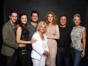 Céline Dion, René Simard, Marie-Josée Taillefer and family (Photo: Photo Olivier Samson-Arcand, OSA IMAGES)