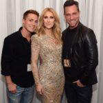 Colton Haynes, Céline Dion, Jeff Leatham (Photo: Cashman)