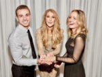 Austin McMillan, Céline Dion, Nick Janevski (Photo: Cashman)