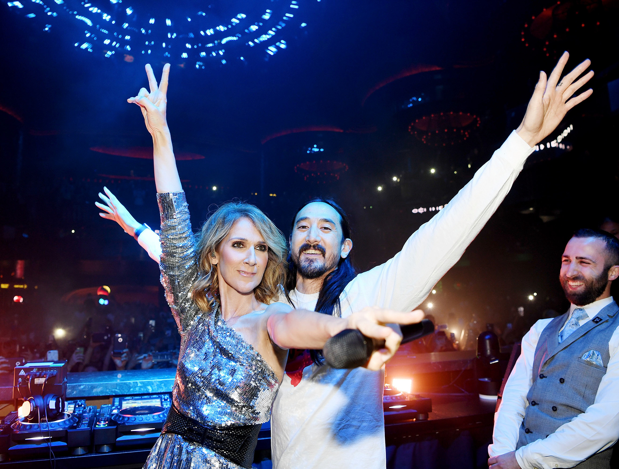 Steve Aoki, Céline Dion (Photo: Denise Truscello)