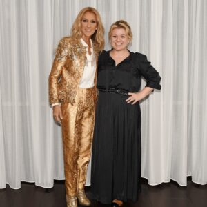 Céline Dion, Kelly Clarkson (Photo: Cashman)