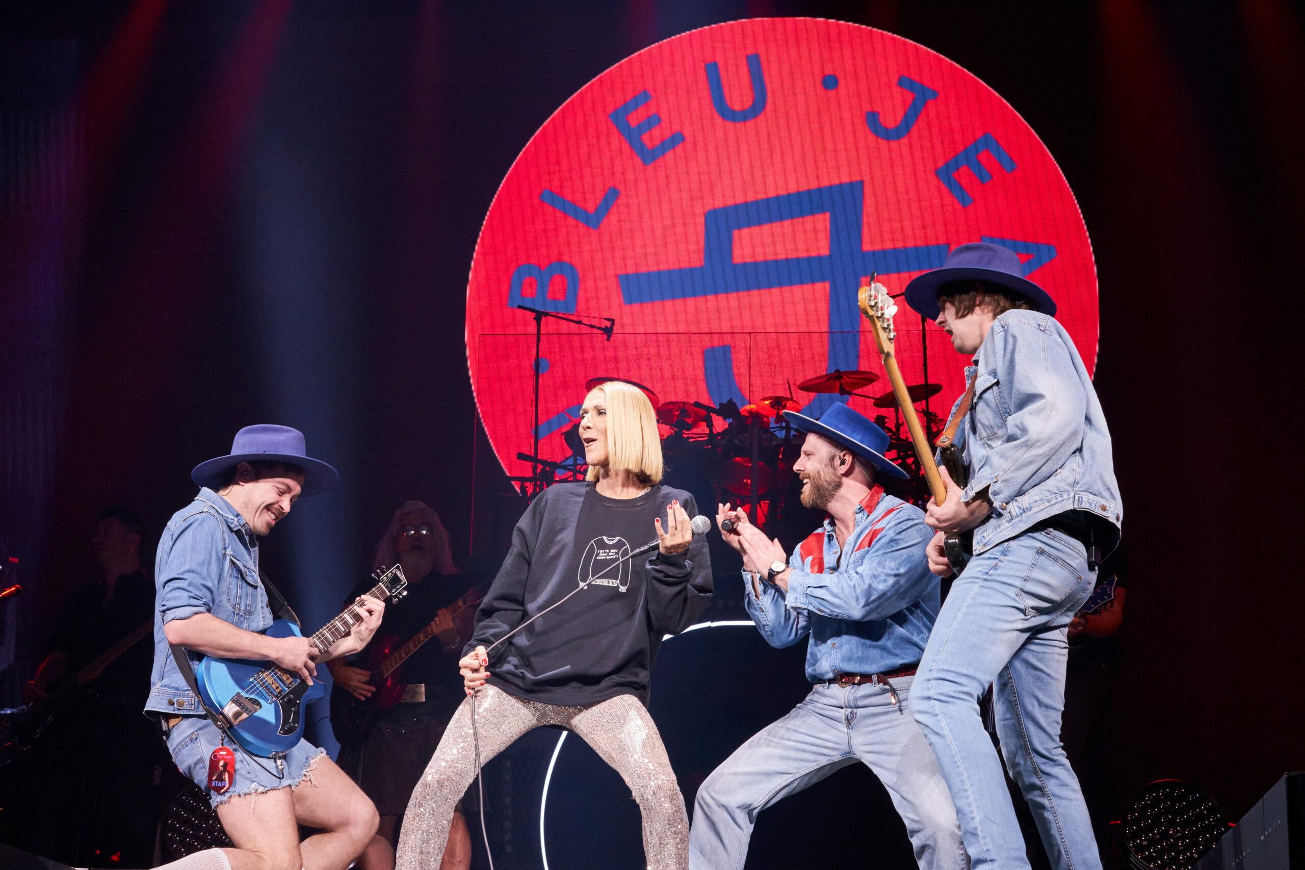Céline Dion, Bleu Jeans Bleu (Montréal 2020, twitter)