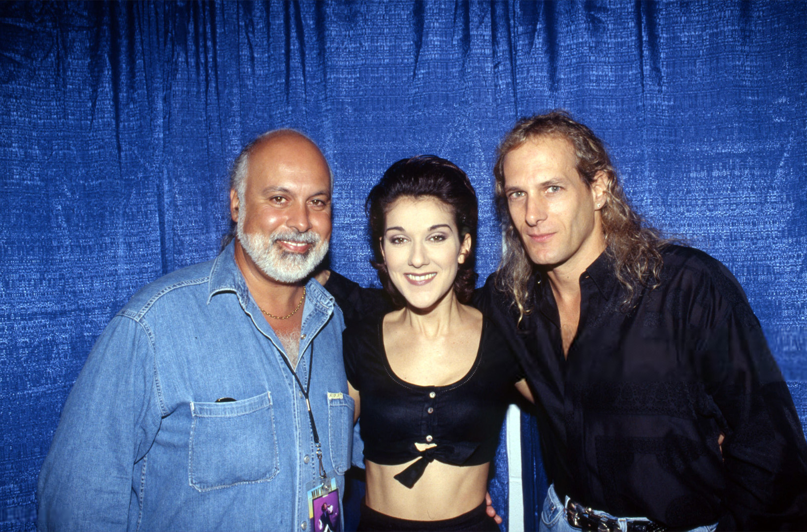 Céline Dion, René Angélil et Michael Bolton (Photo by Michel PONOMAREFF/Gamma-Rapho via Getty Images)