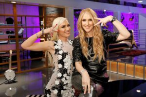 Céline Dion, Gwen Stefani (Credit: Trae Patton/NBC)
