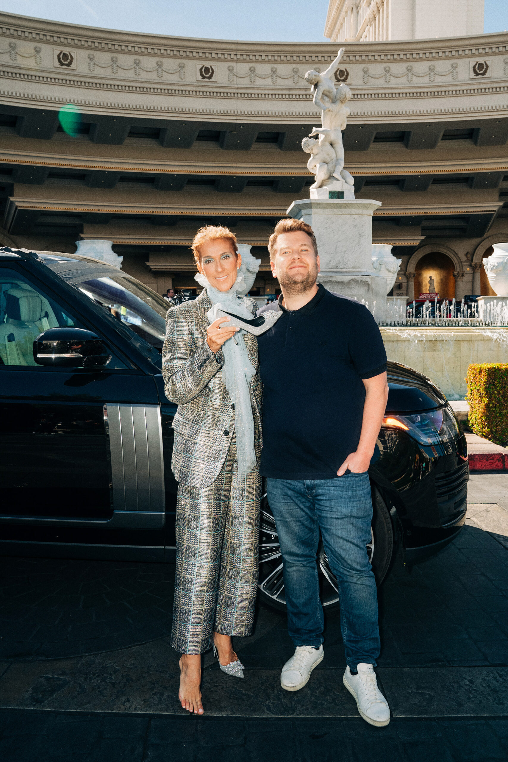 Céline Dion, James Corden (Photo: Terence Patrick/CBS ©2019 CBS Broadcasting, Inc. All Rights Reserved)