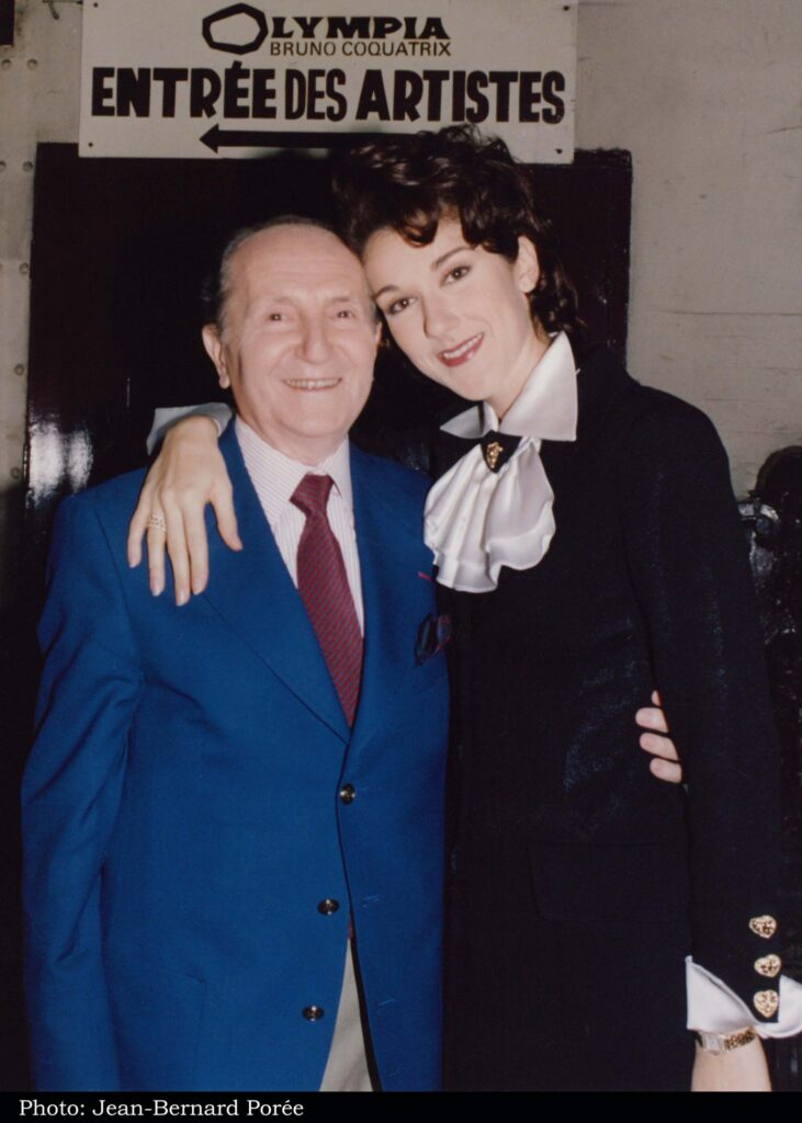 Eddy Marnay, Céline Dion (Photo: Jean-Bernard Porée)