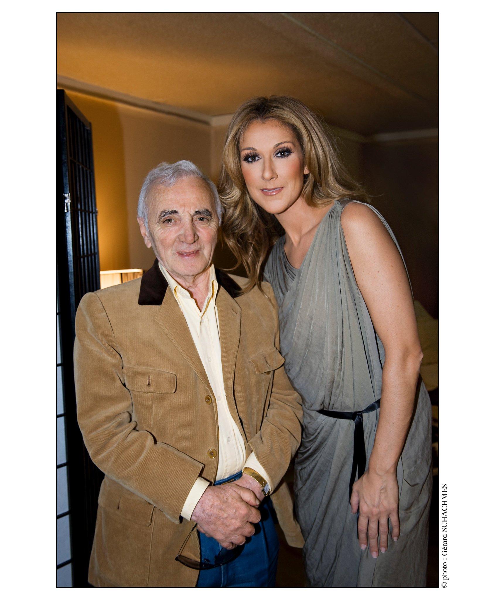 Charles Aznavour, Céline Dion (Photo: Gérard Schachmes)