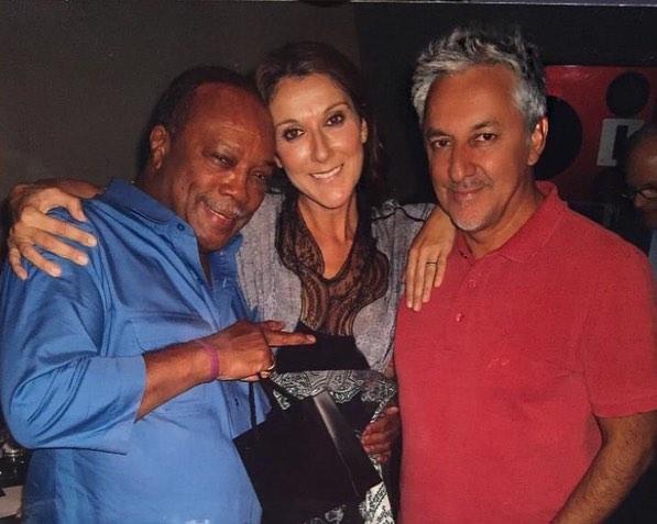 Quincy Jones, Céline Dion, Humberto Gatica